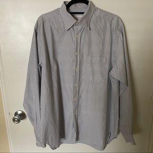 Billy Reid Blue Stripe Long Sleeve Button Down